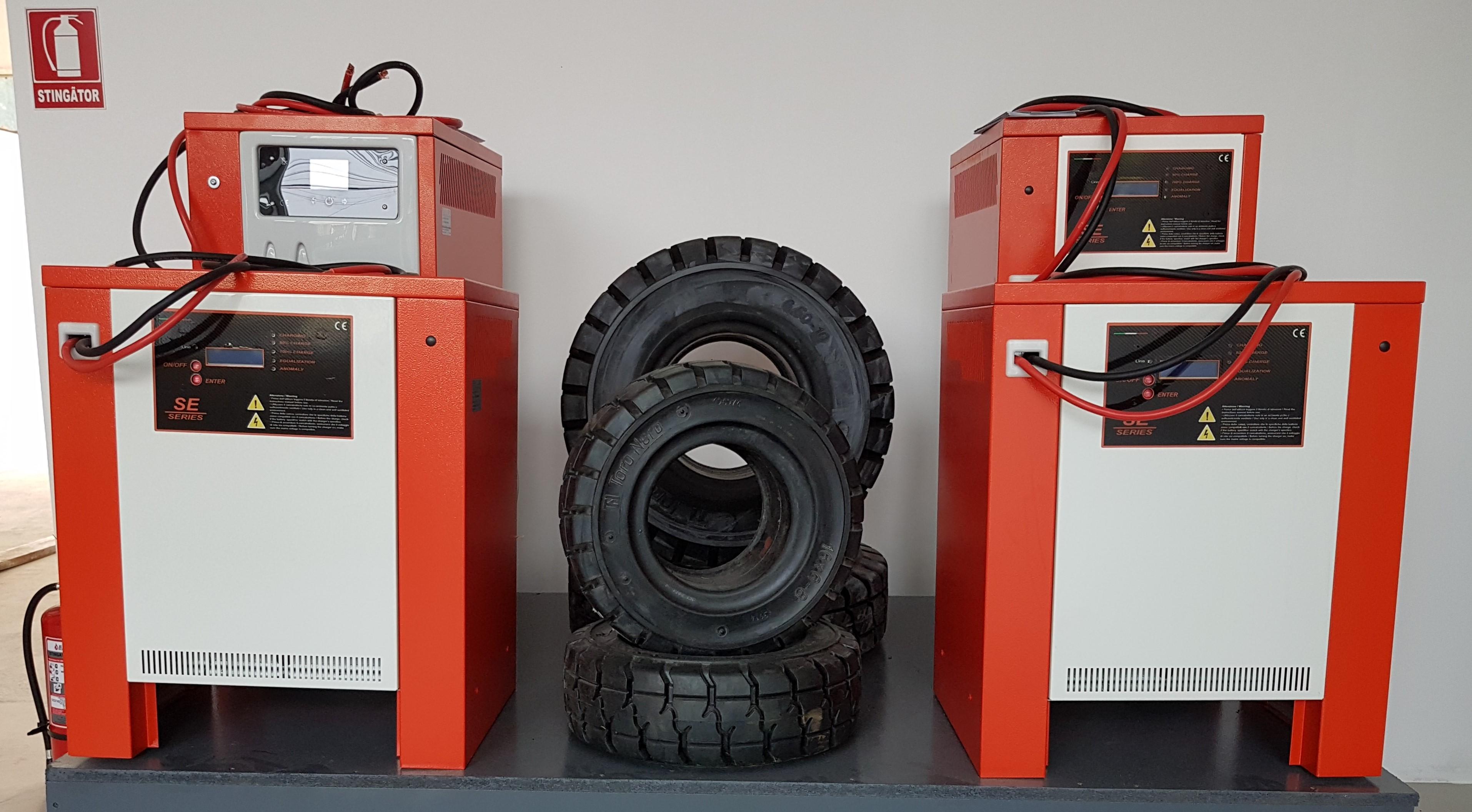 Incarcatoare baterii stivuitoare electrostivuitoare TCE Charger Italy